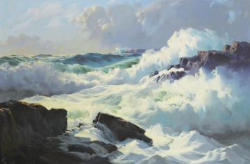 Seascape And Beach Oil Painting & Art Prints On Canvas For Sale