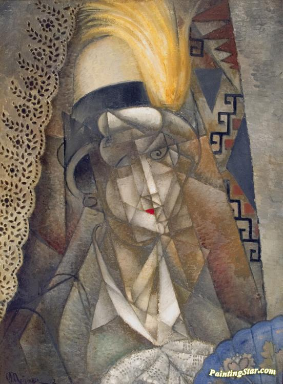The Yellow Feather, 1912 Artwork by Jean Metzinger