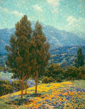 Poppies And Lupines Artwork by Granville Redmond