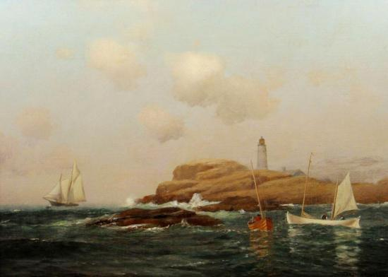 Boon Lighthouse, Isle Of Shoals, New Hampshire Artwork by Warren W. Sheppard