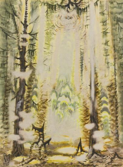 Midsummer In The Woods Artwork by Charles Burchfield