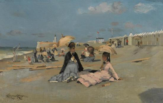 Ladies On The Beach Artwork by Louise Abbema