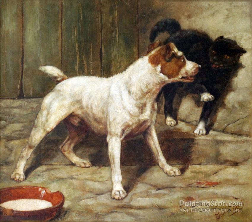The Fox Terrier Flo With Her Puppies 1880 Artwork By Charles