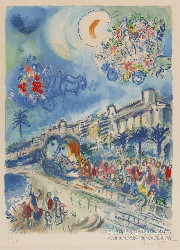 Artwork By Marc Chagall Oil Painting