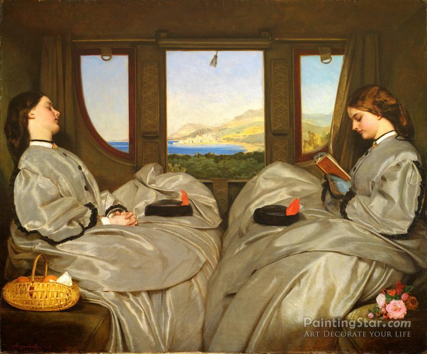 The Travelling Companions, 1862 Artwork by Augustus Leopold Egg