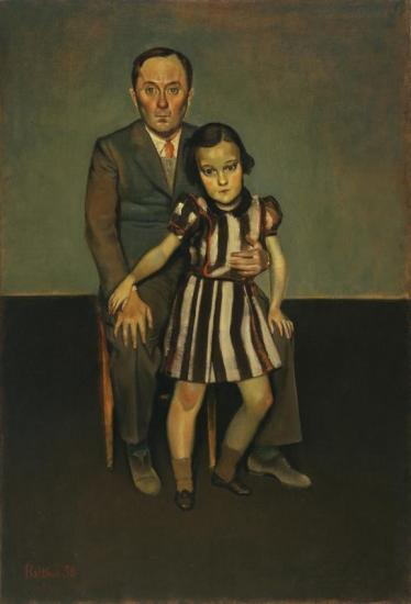 Joan Miró And His Daughter Dolores Artwork by Balthasar Klossowski De Rola Balthus