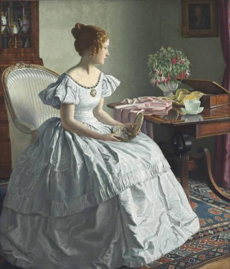 Contemplation Artwork by Leonard Campbell Taylor