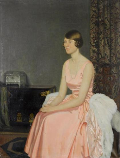 Portrait Of Miss Joy Lyon Artwork by Leonard Campbell Taylor