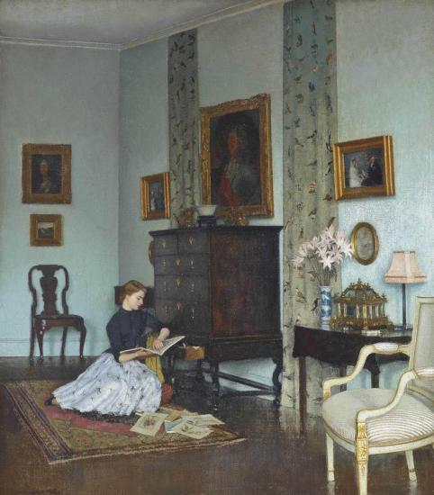 The Blue Room Artwork by Leonard Campbell Taylor