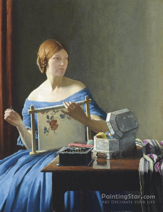 """Leonard campbell taylor offset lithograph print on paper """"the."""
