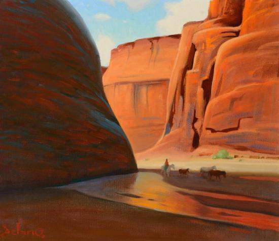 Canyon del Muerto  by Gerard Delano  Giclee Canvas Print Repro