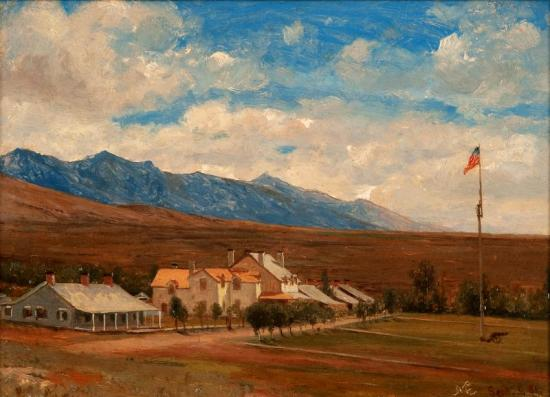 Fort Halleck, Nevada, 1881 Artwork by Jervis McEntee