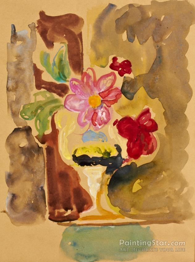 Pink Flowers In A Vase Artwork By Vanessa Bell Oil Painting Art