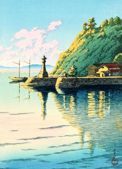 Dawn At Mihogaseki (mihogaseki No Asa), 1925 Artwork by Hasui Kawase
