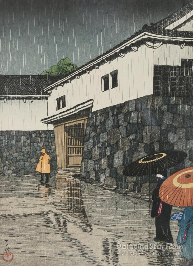 Uchisange, Okayama, 1923 Artwork By Hasui Kawase Oil Painting & Art Prints  On Canvas For Sale - PaintingStar.com Art Online Store