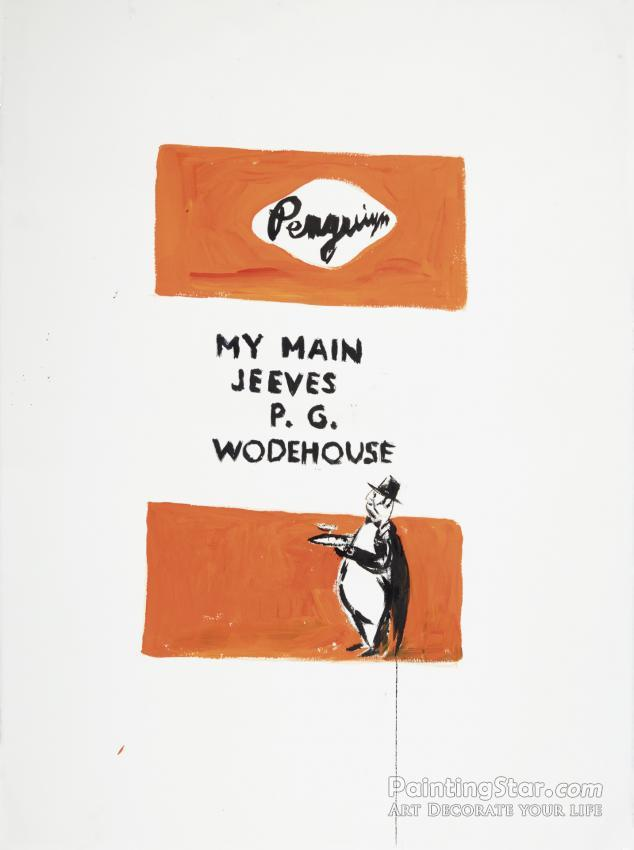 My Main Jeeves Artwork by Raymond Pettibon