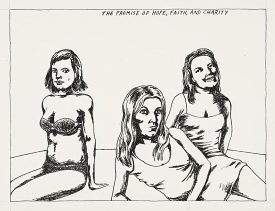 No Title (the Promise Of...) Artwork by Raymond Pettibon