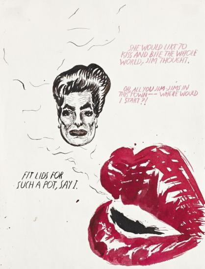 Untitled (she Would Like To Kiss...) Artwork by Raymond Pettibon