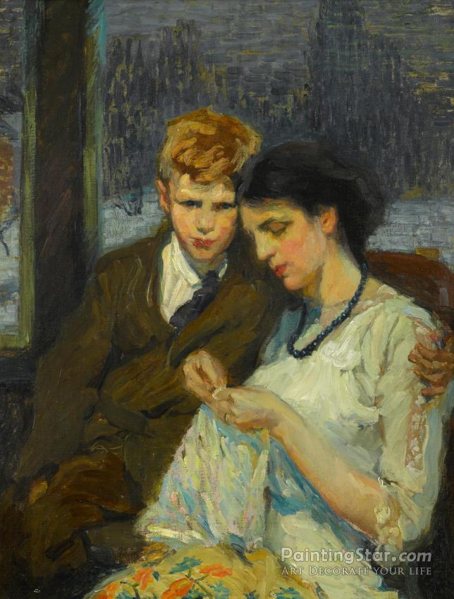 Mother And Son, Circa 1910-15 Artwork By Alice Schille Oil ...