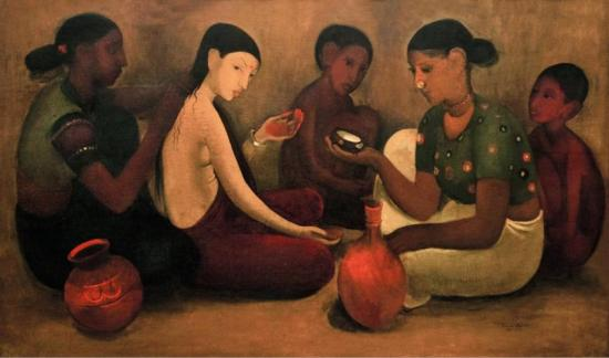 Bride's Toilet, 1937 Artwork by Amrita Sher Gil