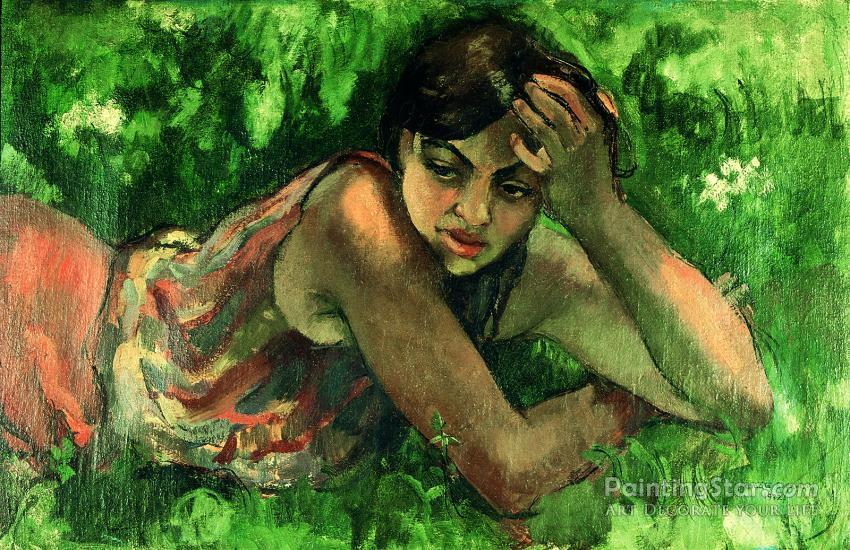b2ab3111800c Hungarian Gypsy Girl, 1932 Artwork By Amrita Sher Gil Oil Painting ...