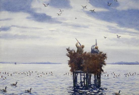 Duck Shooting, 1946 Artwork by Aiden Lassell Ripley