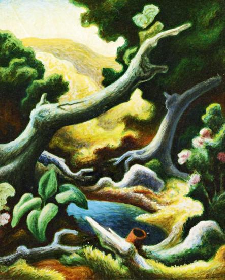 Pool In The Woods, 1944 Artwork by Thomas Hart Benton