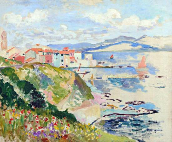 Vue Sur La Ponche, Saint-tropez, 1904 Artwork by Henri Manguin