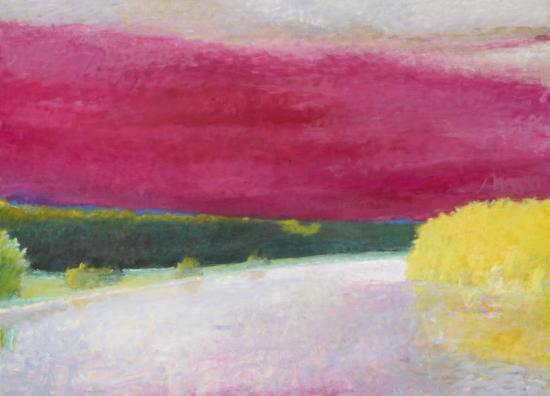Magenta Cloud, 1990 Artwork by Wolf Kahn
