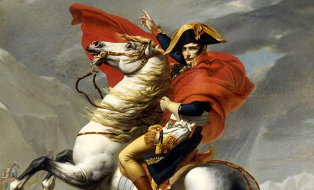 Napoleon Crossing the Alps , Artwork by Jacques-Louis David