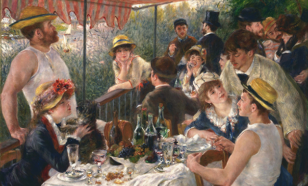 Luncheon of the Boating Party , Artwork by Pierre Auguste Renoir